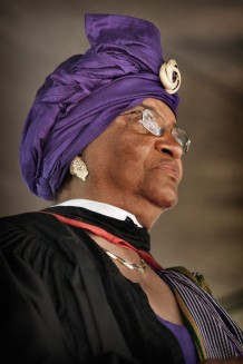 Ellen Johnson Sirleaf, president of the Republic of Liberia, Monrovia 2011