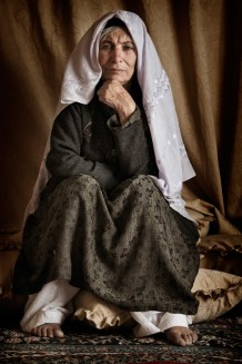 "Nadera, 70. ""Russians killed two sons of mine, one was 18 and the other was 21, he just got married. I'm so sad for those children on mine. My husband died at the age of 110. I married my cousin when I was 9 or 10 and I remember nothing from the wedding day. I couldn't care less about it"". 2011"