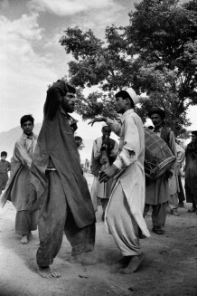 Pashtoun wedding dance. Pul-I-Cherky, Afghanistan, 2003. The separation of sexes is total. At wedding parties, men play music and dance alone.