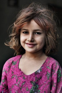 Shamina, 7 years old, IDP coming from war in the Federally Administered Tribal Areas. Mehar Dad Ghrai, Nowshera District, KP. Pakistan, 2013