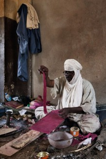 Tuareg artisan at work. CISP is sustaining local craftsmanship. Agadez, Niger 2018