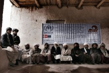 IDPs, beneficiaries of GVC's project of rural development and animal husbandry in Pashtun Zargun Disctrict financed by UNHCR. Province of Herat, Afghanistan, 2012