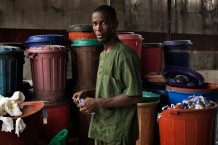 Surgical and Paediatric Centre, waste collection and disposal area. Goderich, Freetown, Sierra Leone 2017