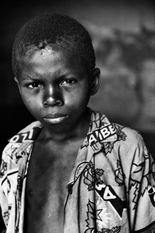 Dianzenza Jonathan, ndoki, in Mobikisi centre, Kinshasa, 2006. Before being abandoned, both Jonathan and his borther were accused of being the cause of their mother's folly and of planning their father's death.