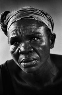 Boyokani health centre, Kinbanseke, Kinshasa, 2006. A woman sick with AIDS. In the Democratic Republic of Congo AIDS is mostly a consequence of rapes. The rape is a weapon of war. WHO esteemed 25.000 women were raped in 2004 in South Kivu , but the real  number of  rapes is much bigger, for many women do not denounce their abuse.