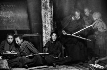 The school, Thiksey Gompa. Ladakh, India, 1990.